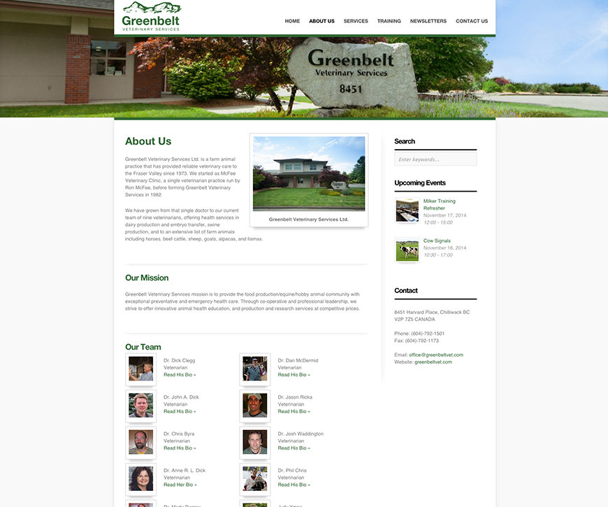 Greenbeltvet – Website