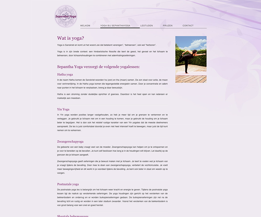 Sepantha – Website
